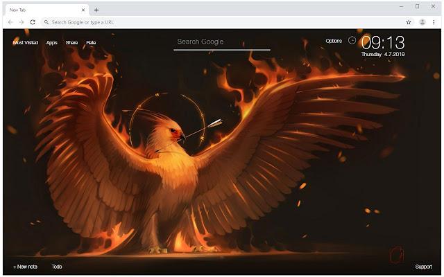 Phoenix Wallpaper HD Phoenix New Tab