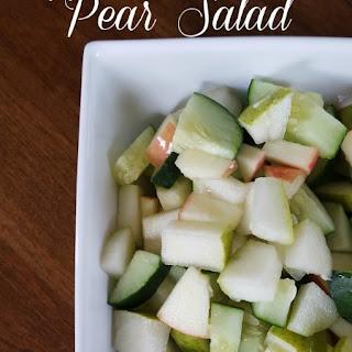 Apple Cucumber Pear Salad
