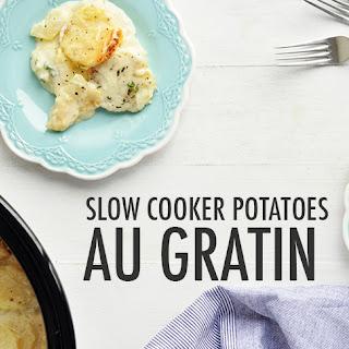 Slow Cooker Potatoes Au Gratin