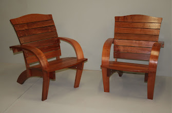 Photo: Adirondack chairs ( design by Michael Fortune) Tasmanian Myrtle Bob McGregor