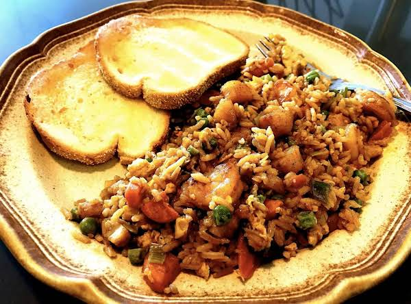 Take Out Wouldn't Even Be Close To As Good As This Is Tasty Fried Rice Recipe. Veggies Are Balanced And Allows For Substitutions. Love The Flavor Of The Sesame Oil. Yum!