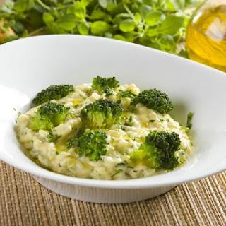 Risotto mit Broccoli und Büffelmozzarella