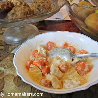Simple Creamy Chicken Stew in the Crock Pot