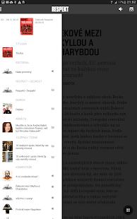 Týdeník Respekt- screenshot thumbnail