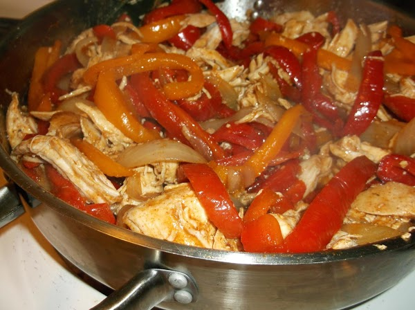 Add shredded chicken, mix well, test for seasoning and add to taste; cover and...