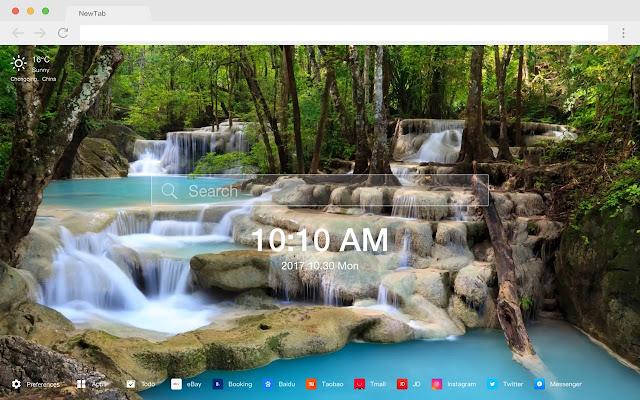 Waterfall HD Wallpapers Nature New Tab Themes