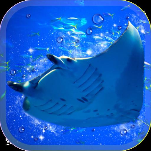 美しいマンタ育成ゲーム-無料の水族館育成ゲームアプリ- 休閒 App LOGO-硬是要APP