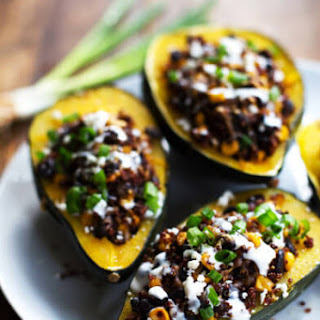 Roasted Corn and Quinoa Stuffed Squash