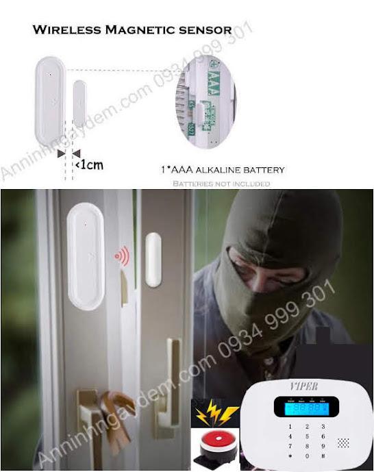 Thiết bị chống trộm gắn cửa báo qua điện thoại