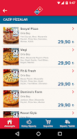 Screenshot of Domino's Pizza Turkey