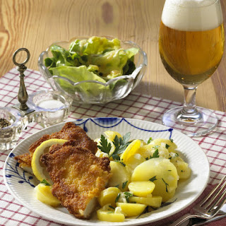 Chicken Schnitzel with Potato Salad