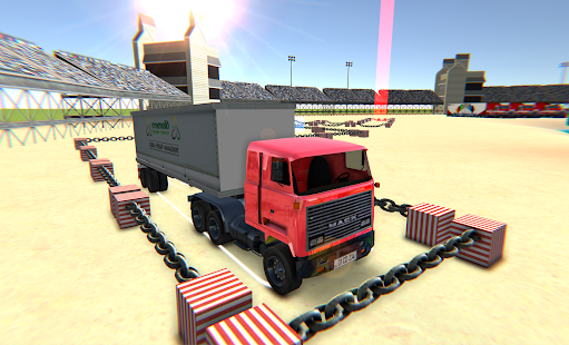 Chained Cargo Truck Stadium Parking - náhled