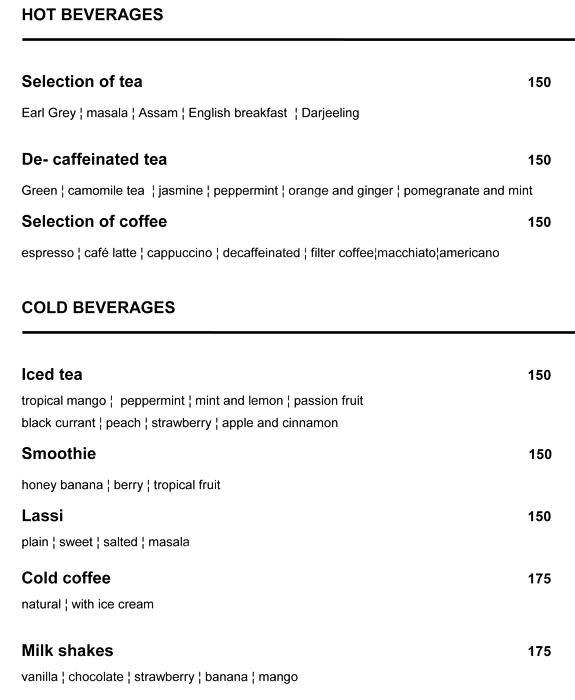 Marea-Bar - Howard Johnson Bengaluru menu 4