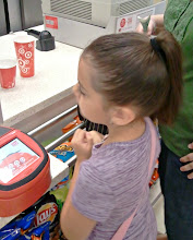 Photo: Isabella ordered an Icee and I picked a soda, the heat made us thirsty.