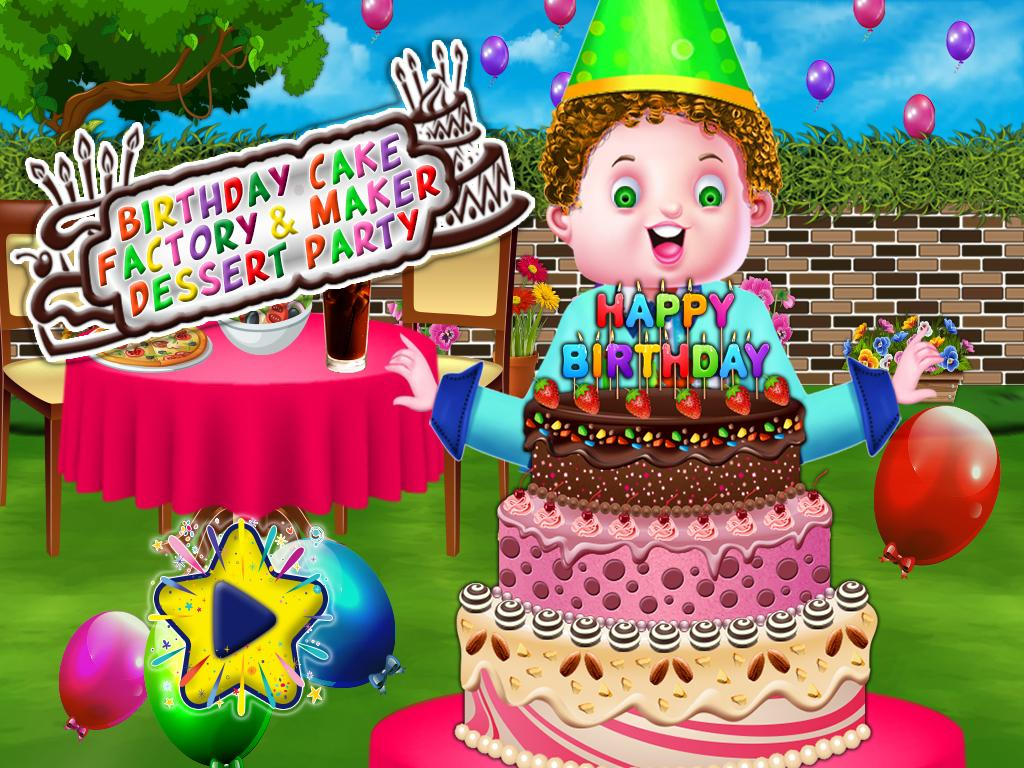 Birthday Cake Maker Factory Dessert Party Poster