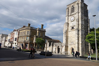 Photo: High Street and the clock bell that woke us early in the morning.