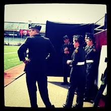 Photo: Pre-game color guard