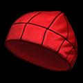 赤いニットキャップ