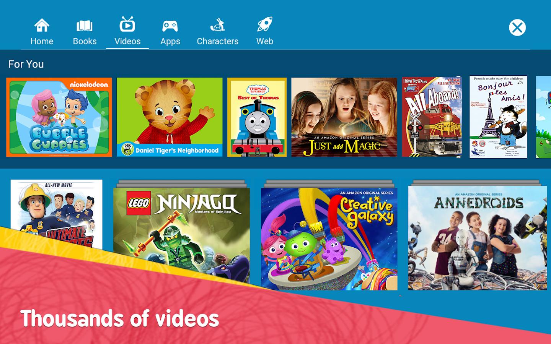 amazon freetime u2013 kids u0027 videos books u0026 tv shows android apps