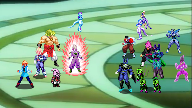 Dragon Z Super saiyan battle