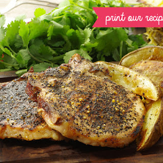 Grilled Coffee-crusted Pork Chops.