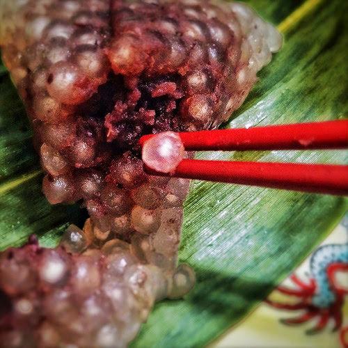 Crystal, Sago, tapioca, boba, Red Bean, Zong Zi, zongzi, 水晶, 紅豆, 粽子, rice dumpling, recipe, mini, how to wrap