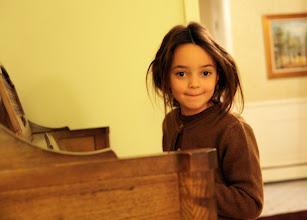 Photo: Olivia on the piano