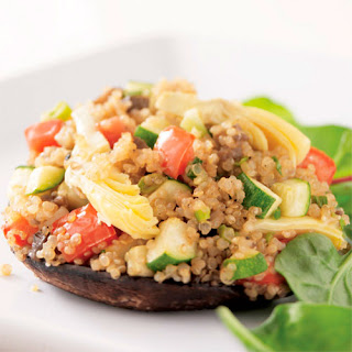 Quinoa-Stuffed Portobello Mushrooms.