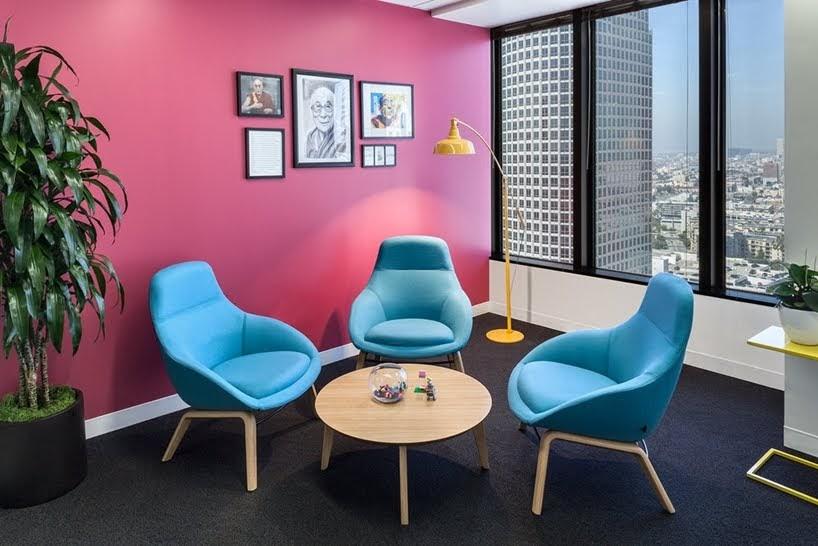 Salud y vitalidad es lo que reflejan estas oficinas en los Ángeles, California