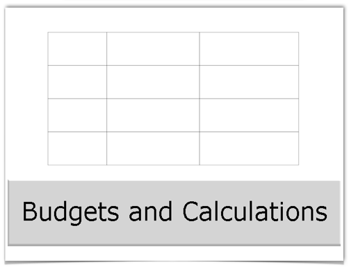 Budgets and Calculations