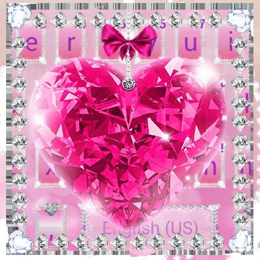 Diamond Pink Love Keyboard Theme Icon