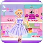 Doll house repair & cleaning games for girls Icon