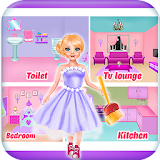 Doll house repair & bathroom cleaning girls games file APK Free for PC, smart TV Download