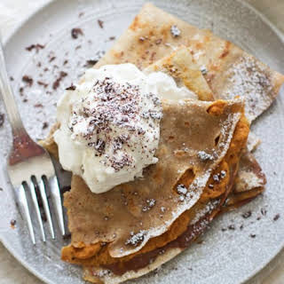 Pumpkin and Chocolate Mousse Crepes.
