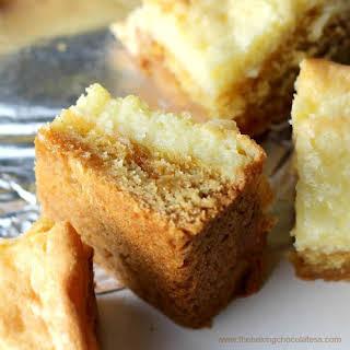 Ooey Gooey Salted Caramel Butter Cake Bars.