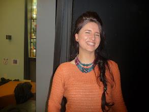 Photo: Zuzanna, la professora més jove del grup, eslovaca.