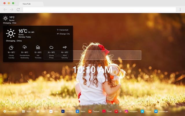 Little girl new tab HD pop portrait theme