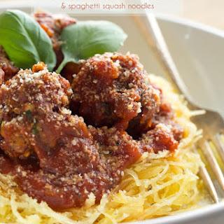 Italian Bean Balls and Spaghetti Squash Noodles