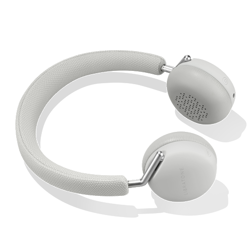 White Libratone Headphones with optional headphone cable