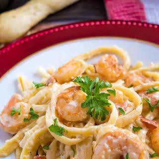 Cajun Shrimp Fettuccine Alfredo.