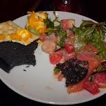 a messy meal but delicious at Vampire Cafe in Tokyo in Tokyo, Tokyo, Japan