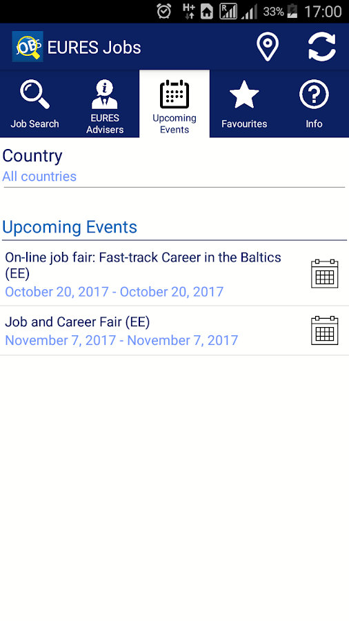 EURES - Your Job in Europe- screenshot