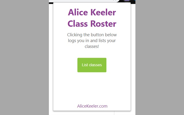 Alice Keeler Class Roster