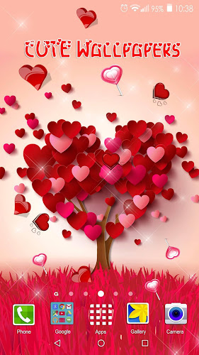 Heart Live Wallpaper Cute Images Of Love Hearts On Google Play