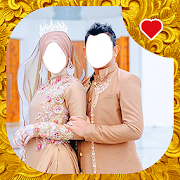 Modern Muslim Wedding Couple Photo Suit