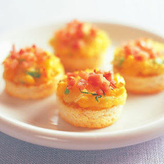 Bacon and Corn Crostini