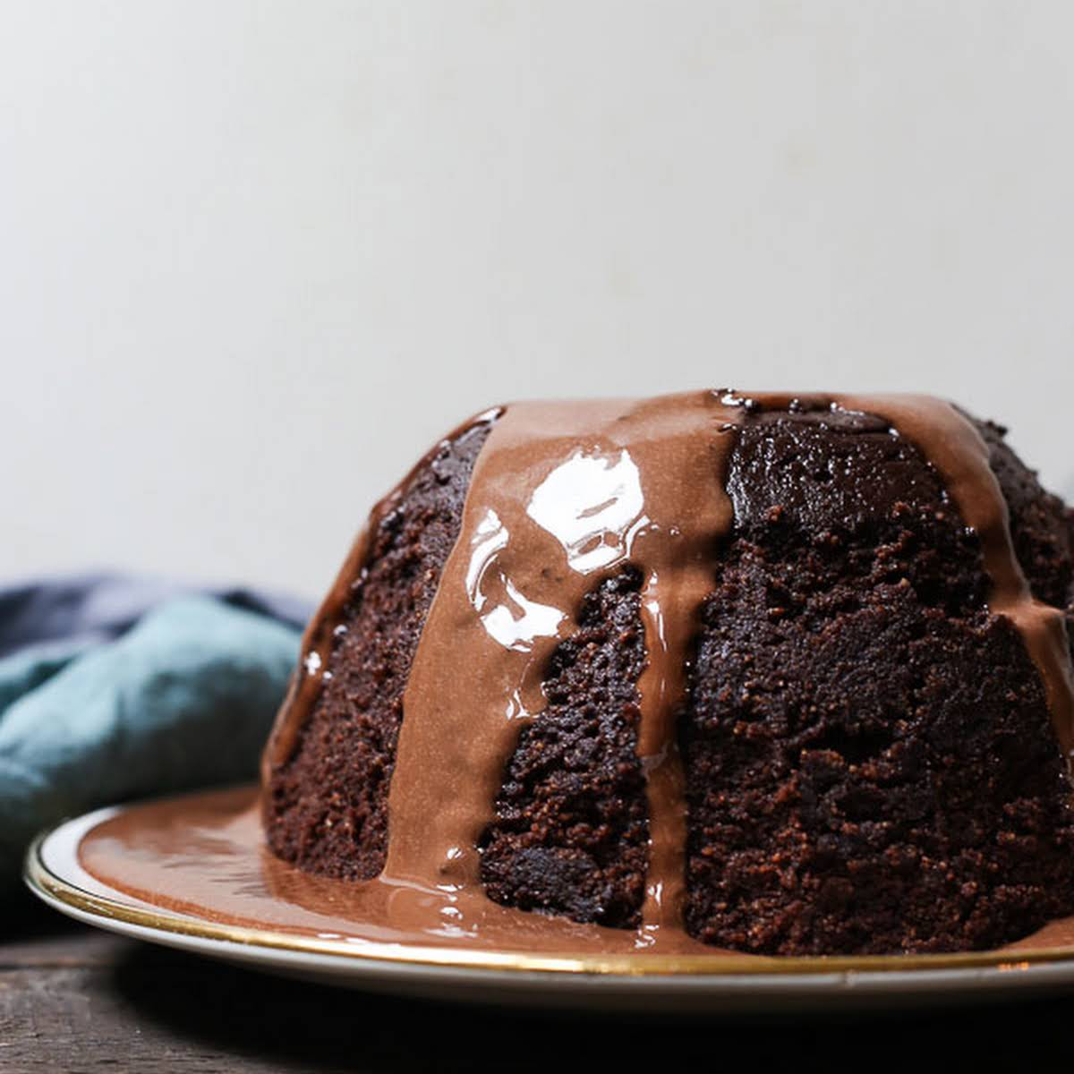Steamed Chocolate Pudding with Chocolate Custard gluten-free