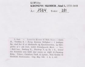 Photo: Kronens Skøder  1584