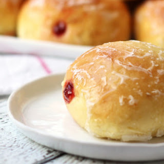 Baked Pączki With Plum Butter.