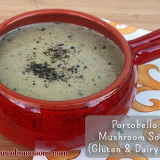 Cream of Portobello Mushroom Soup (Gluten, Grain, and Dairy Free).